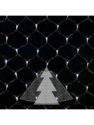 Decorazione rete di luci per albero di natale 195 led con controller bianco ghiaccio illuminata