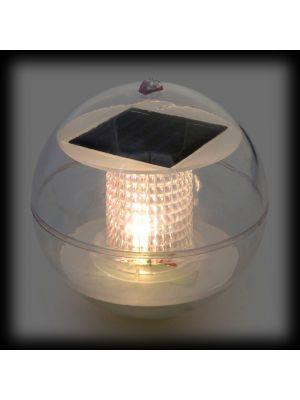 Sfera galleggiante a led batteria solare - luce fissa - bianco caldo