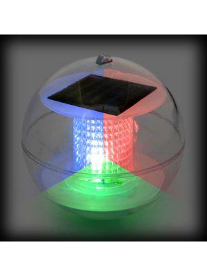 Sfera galleggiante a led batteria solare - rgb cromo digital