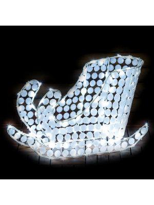 Slitta bianca H 40 cm ACP 3D White 120 led reflex - luce fissa - bianco ghiaccio