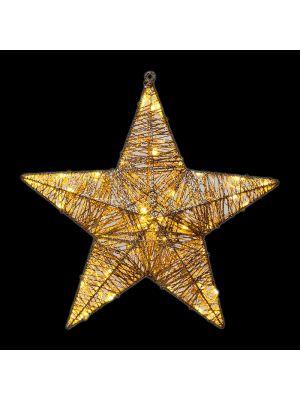 Decorazione stella luminosa Golden Glitter 40 led reflex - luce fisssa - bianco classic