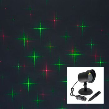 Proiettore laser punti e stelle - verde e rosso