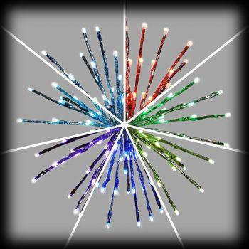 Twig ball argento ø 40 cm 120 led reflex RGB con telecomando IR