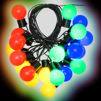 Catena party light da 10 m con 20 lampadine ø50xh60 cm - multicolor