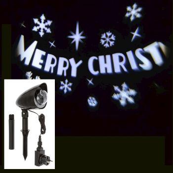 Proiettore Merry Christmas a led - Bianco Ghiaccio