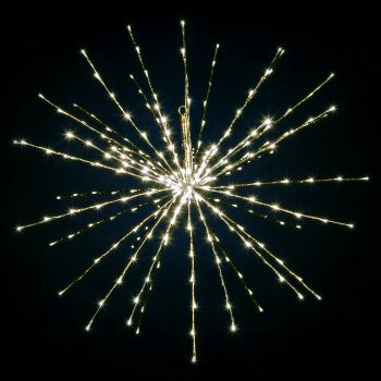 Decorazione luminosa Twig Ball Ø 100 cm 280 led - flashled diamond - bianco classic caldo