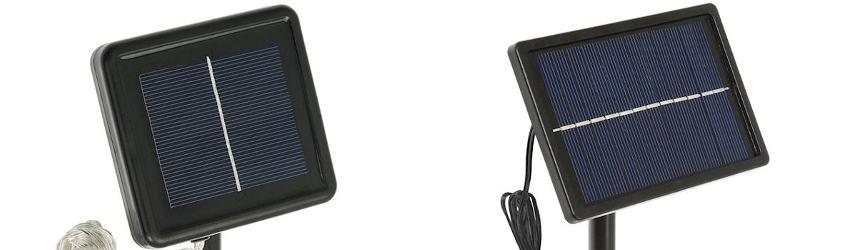 Pannelli solari per ricarica luci a led solari