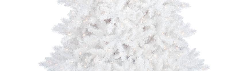 Alberi di Natale in pvc bianco