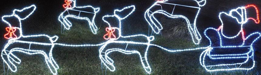 Decorazioni a led 3d per esterno - Decorazioni natalizie per esterno ...