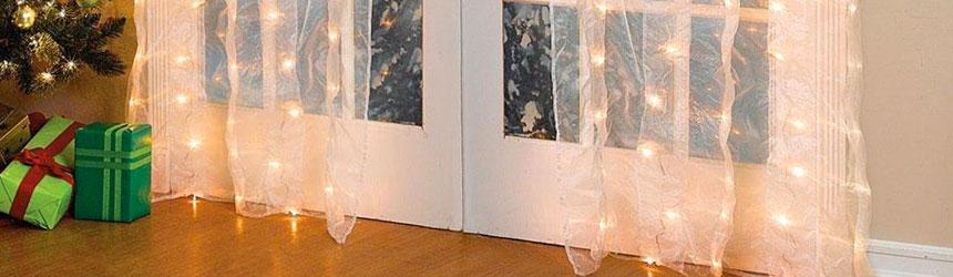tende di luci a led per interni